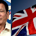 British posts open letter to Duterte, assures him of massive support in UK