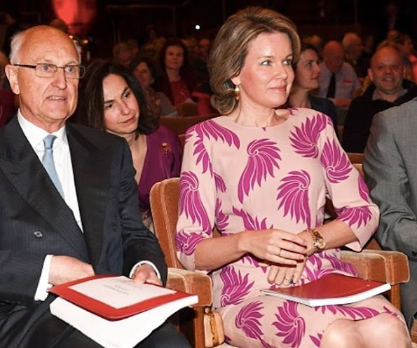 Queen Mathilde of Belgium attended the first session of the first round of the 2016 Queen Elisabeth Piano Competition at the Flagey cultural center