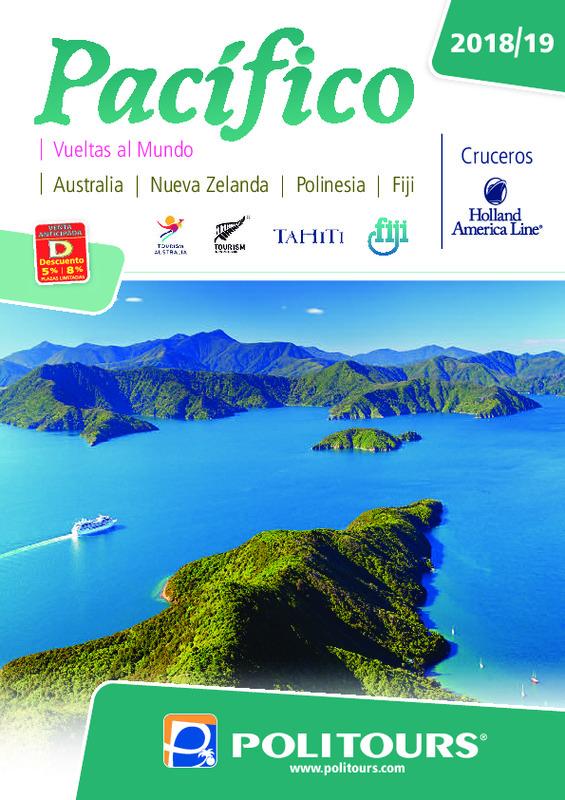 Catálogo Politours Circuitos Pacifico 2018-19