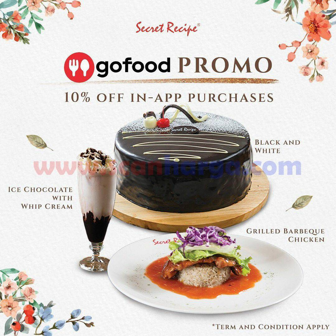 Secret Recipe Promo Diskon 10% semua menu via GOFOOD