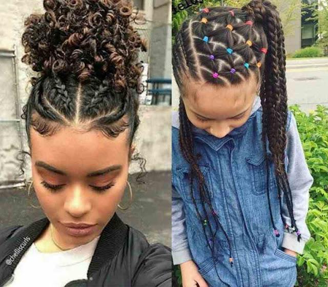 penteados para cabelos cacheados infantil