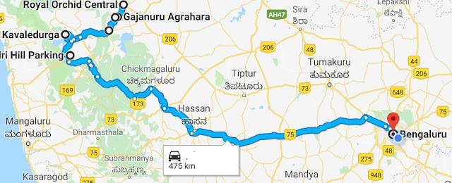 Trip to Shimoga - the route back