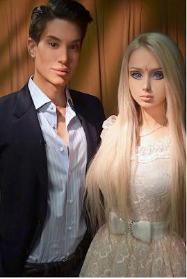 Anything she can do, I Ken do better ... Justin Jedlica with Ukrainian Barbie Valeria Lukyanova
