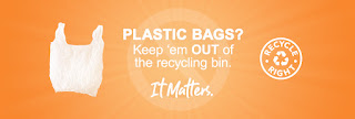 An example of a English language web banner available in the Recycle Right partner toolkit.