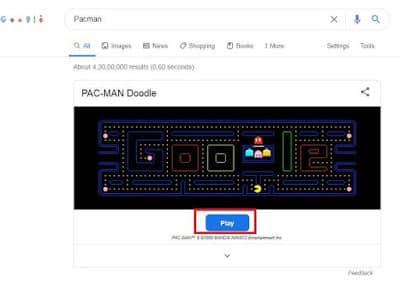 pacman-google-search-tricks