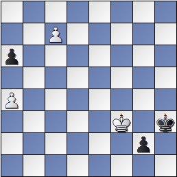 Posición después de 60.c7 de la partida de ajedrez Pomar vs. Eliskases, I Torneo Internacional de Ajedrez Costa del Sol 1961