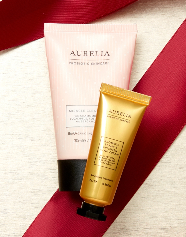 Discover Aurelia Set - Probiotic Skincare Miracle Cleanser 30ml, and Aromatic Repair & Brighten Hand Cream 7ml