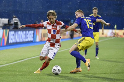 ملخص واهداف مباراة كرواتيا والسويد (2-1) دوري الامم الاوروبية