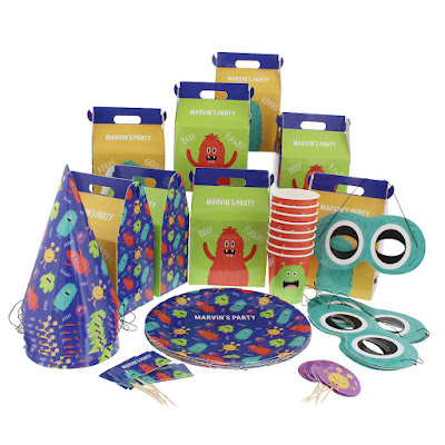 personalised parties monsters party pack