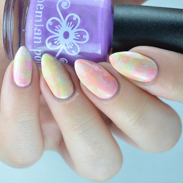 Holi inspired nail art