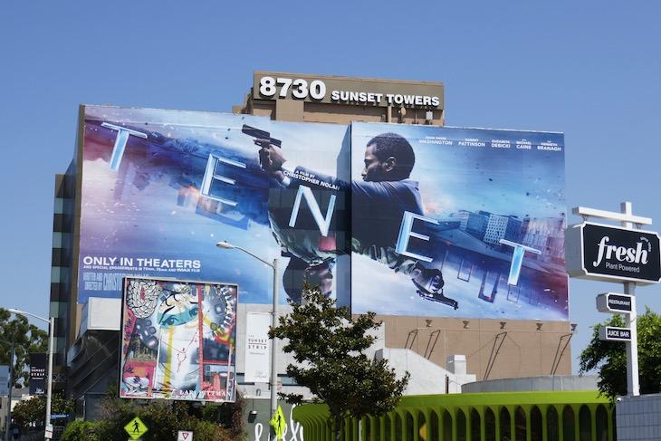 Giant Tenet film billboard