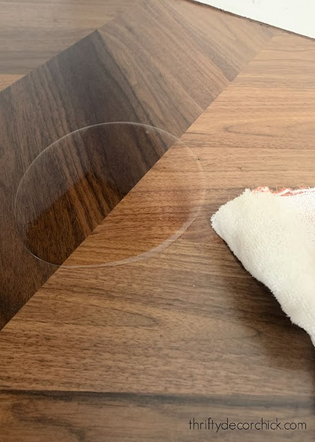 treating butcher block with Tung oil