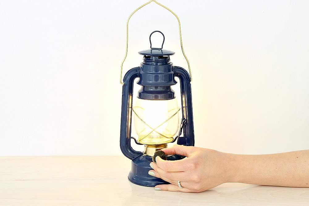 LED Time Concept Battery Lantern