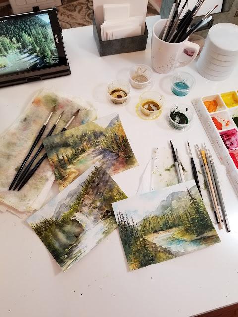 Original Watercolor Artwork by Christy Sheeler © 2018 shemustmakeart.com