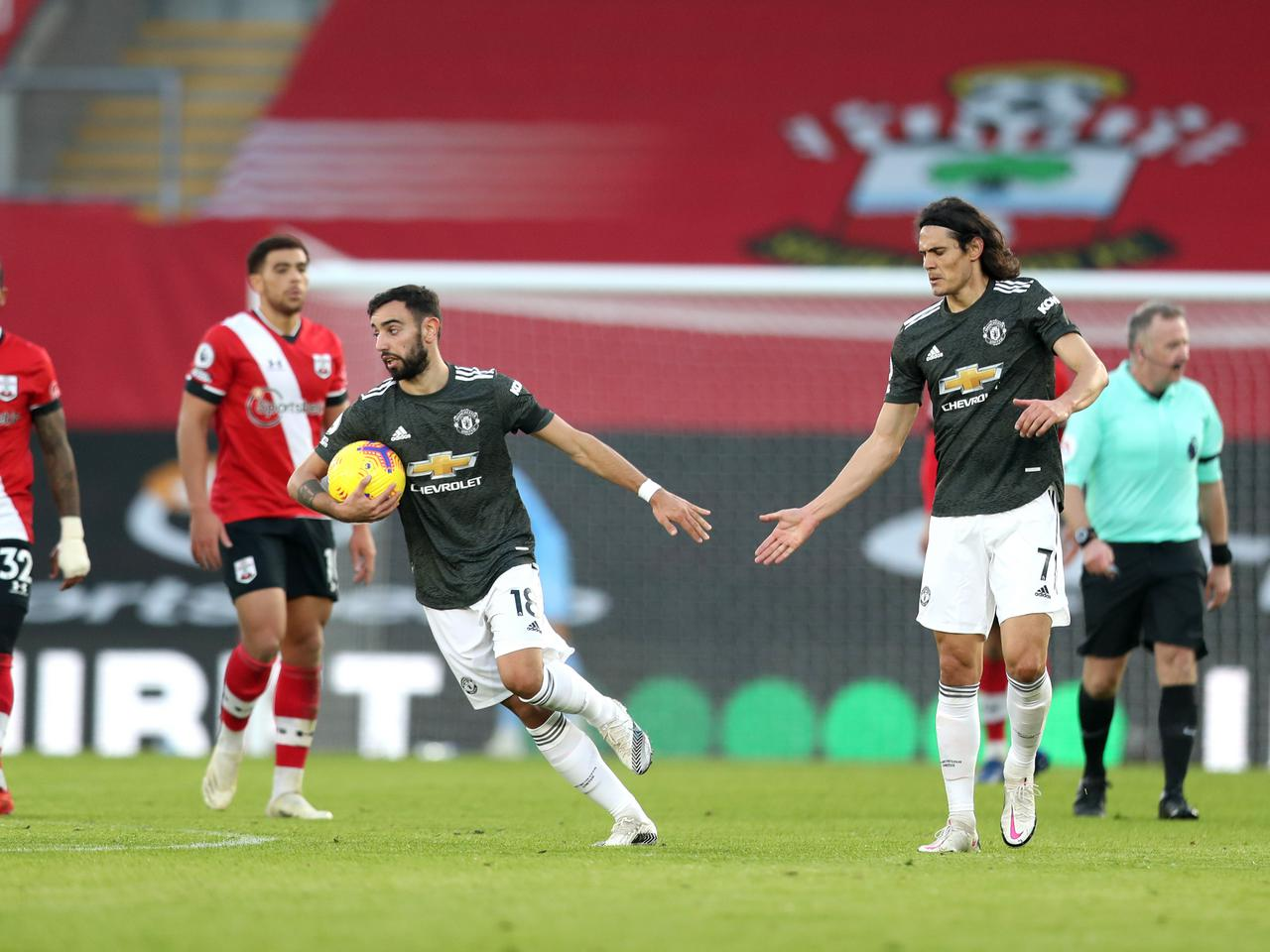 Bruno Fernandes and Edinson Cavani inspired Man United to a come-from-behind win against Southampton