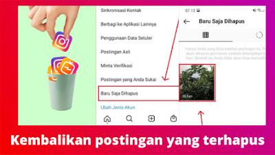 Cara Mengembalikan Postingan Instagram Yang Terhapus