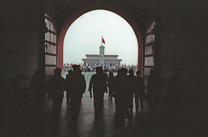 Pékin, Beijing, Palais Impérial, Cité interdite, Porte de la Paix Céleste, © L. Gigout, 1990