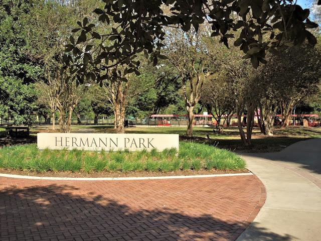 Hermann Park (signage at SW corner of park)