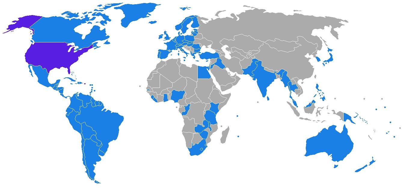 Countries that have Extradition Treaties with the US
