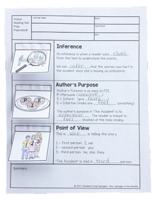 Try this or one of the other 3 ideas for Middle School Reading Test Prep! #ELA #Tips