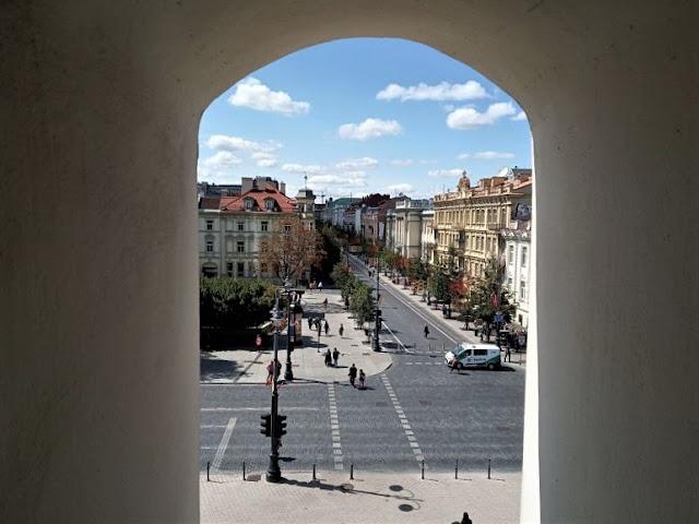 Gedimino prospektas vista dalla torre campanaria