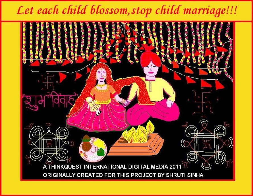 ......Let each child blossom, stop child marriage!!!!
