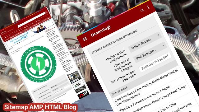 Cara Mudah Membuat Sitemap Daftar Isi Blog AMP html