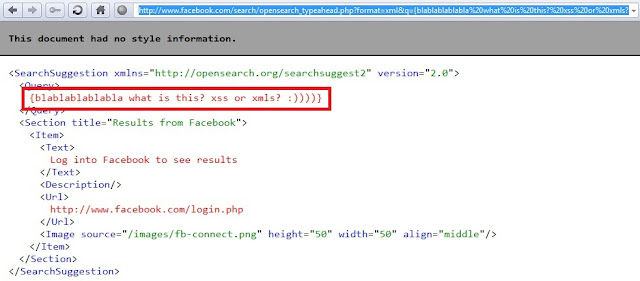 Facebook is not Exclusion, XML Vulnerability !