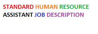 Standard Human Resource Assistant Job Description