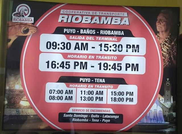 Cooperativa de Transportes Riobamba en la ciudad de Puyo