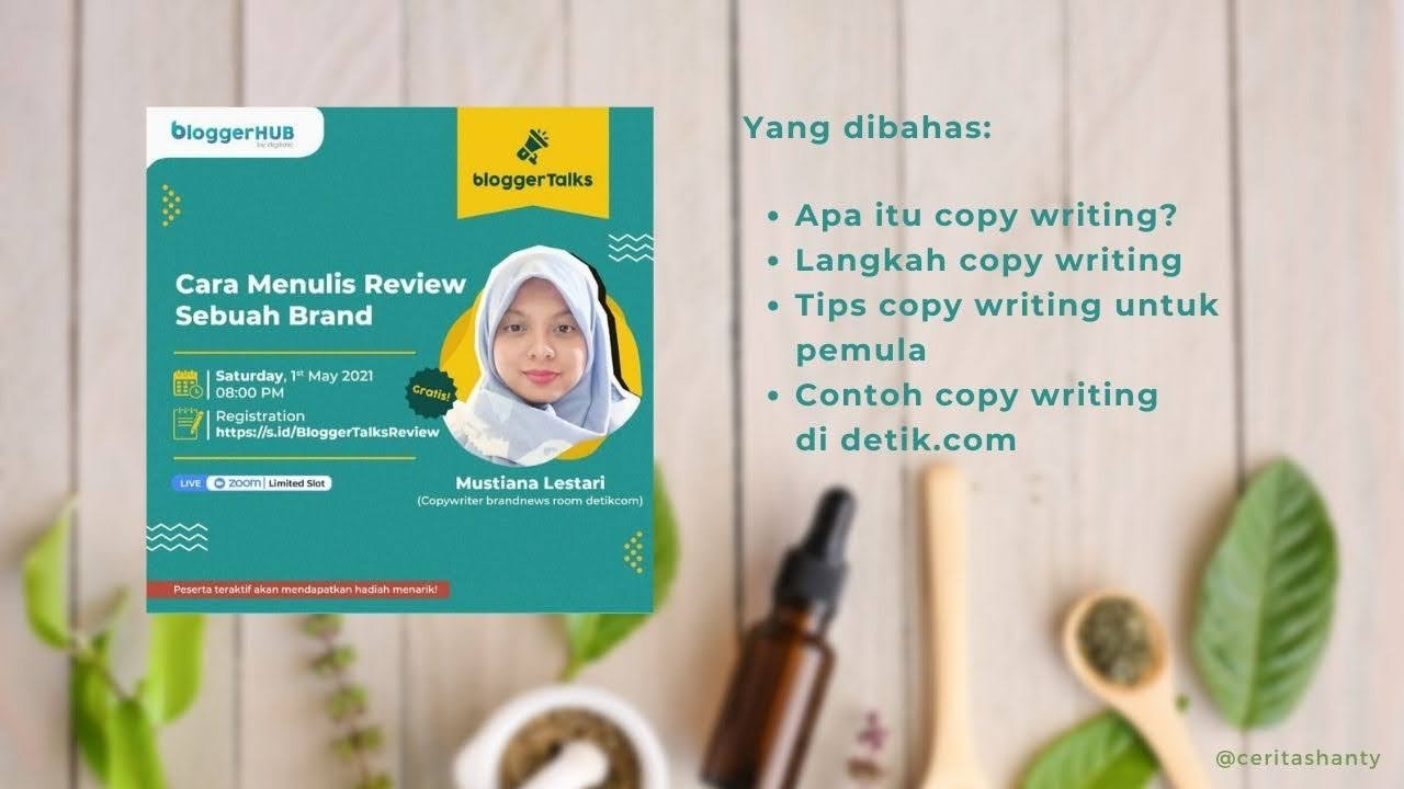 flyer acara cara menulis review brand bloggerhub
