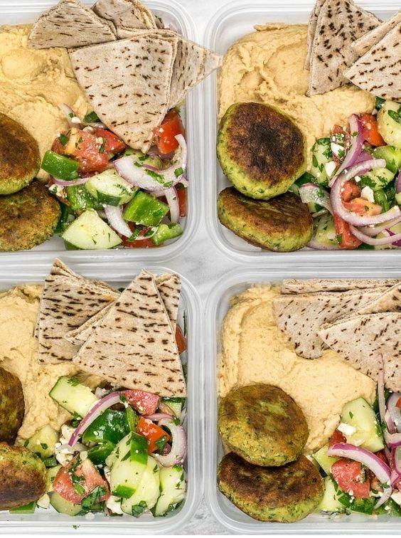 Falafel And Hummus Box Meal Prep