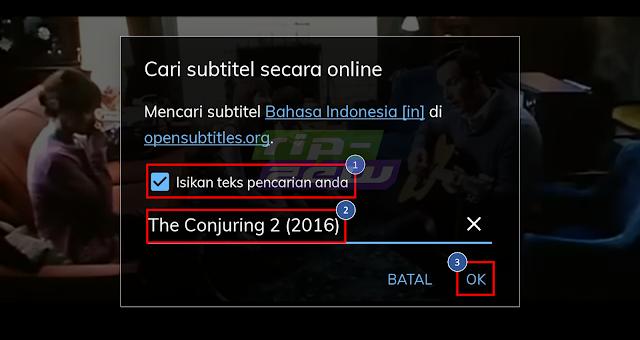 Cari Subtitle Film di MX Player
