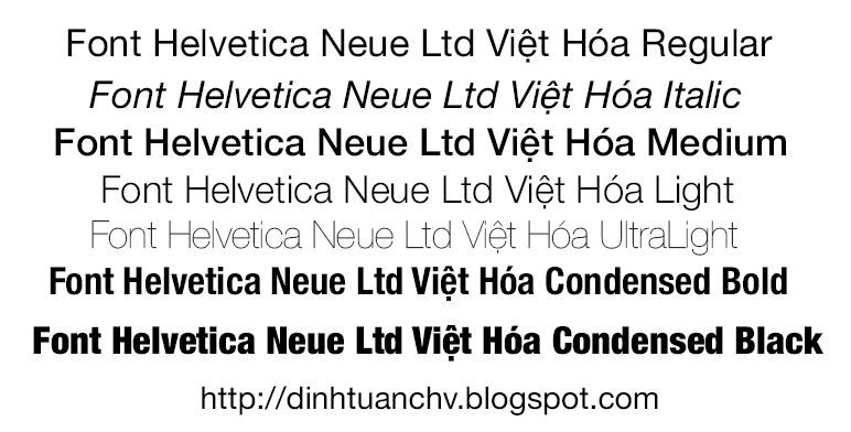 Font] Tổng Hợp Font Helvetica Việt Hóa | Font chữ dùng trong