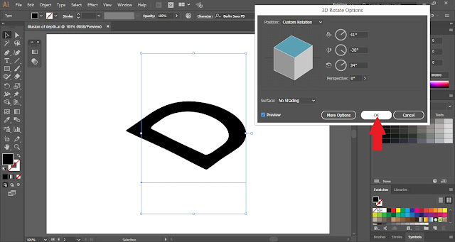 How to create Depth Illusion in Adobe Illustrator?