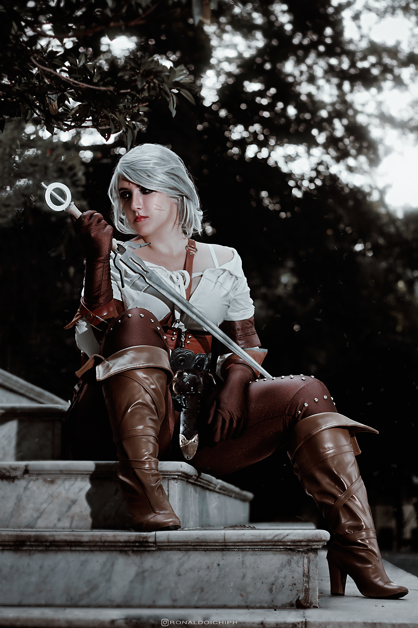 Ciri cosplay from CD Projekt's The Witcher 3: Wild Hunt - Cosplay photography by Ronaldo Ichi