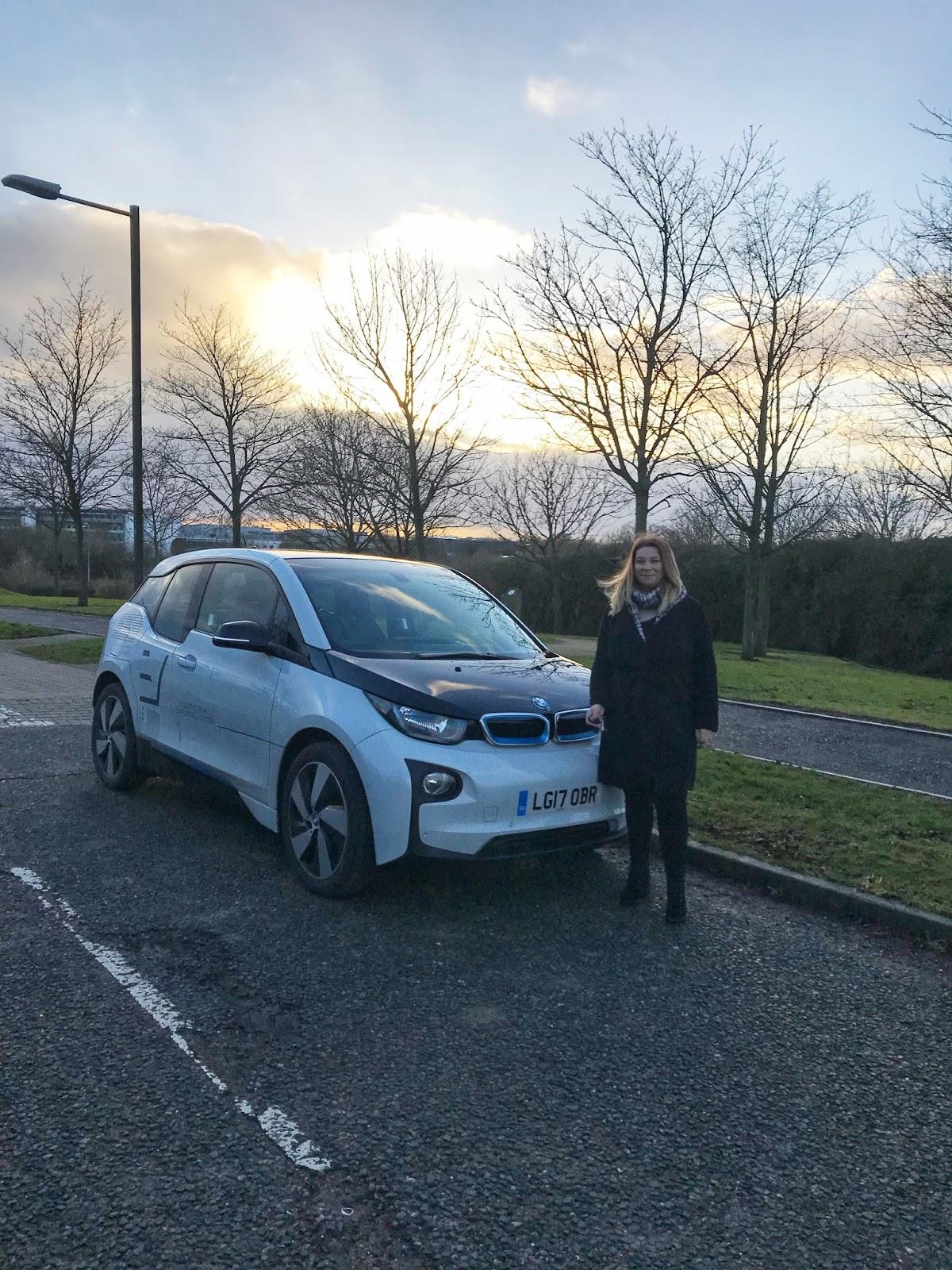 White BMW i3 Electric Car Test Drive Milton Keynes