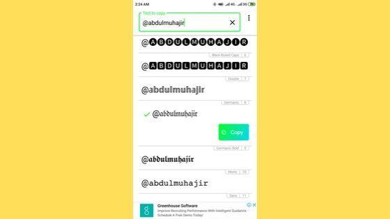 Cara merubah tulisan di instagram