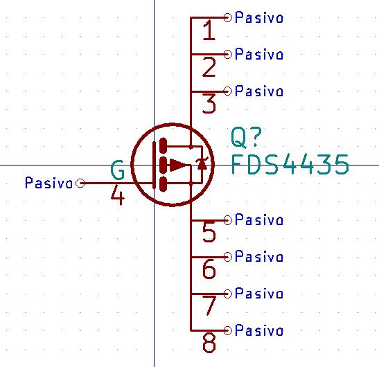 Librerías para KiCad: FDS4435 - MOSFET canal P