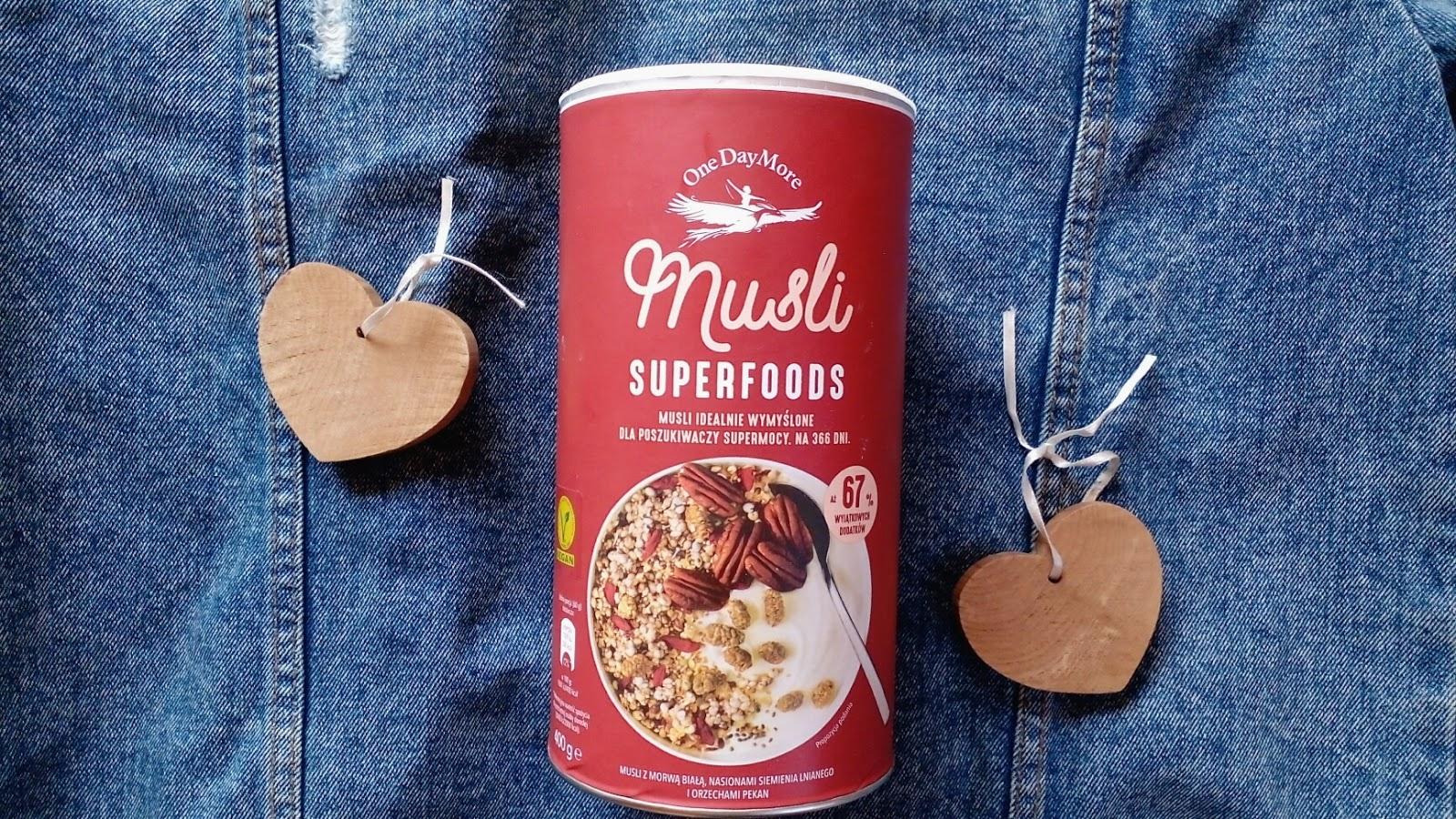 Musli Superfoods dla poszukiwaczy supermocy [One Day More – moja opinia]