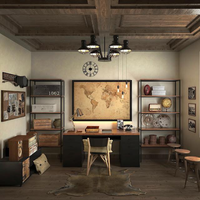 Work Room Free Sketchup Interior Scene , sketchup models , 3d model sketchup , free sketchup models , 3d rendering , 3d modelling , sketchup vray render