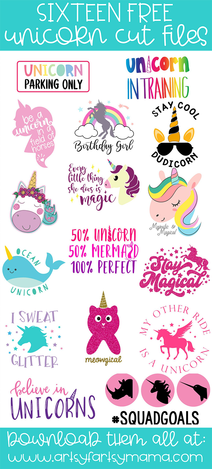 16 Free Unicorn Cut Files