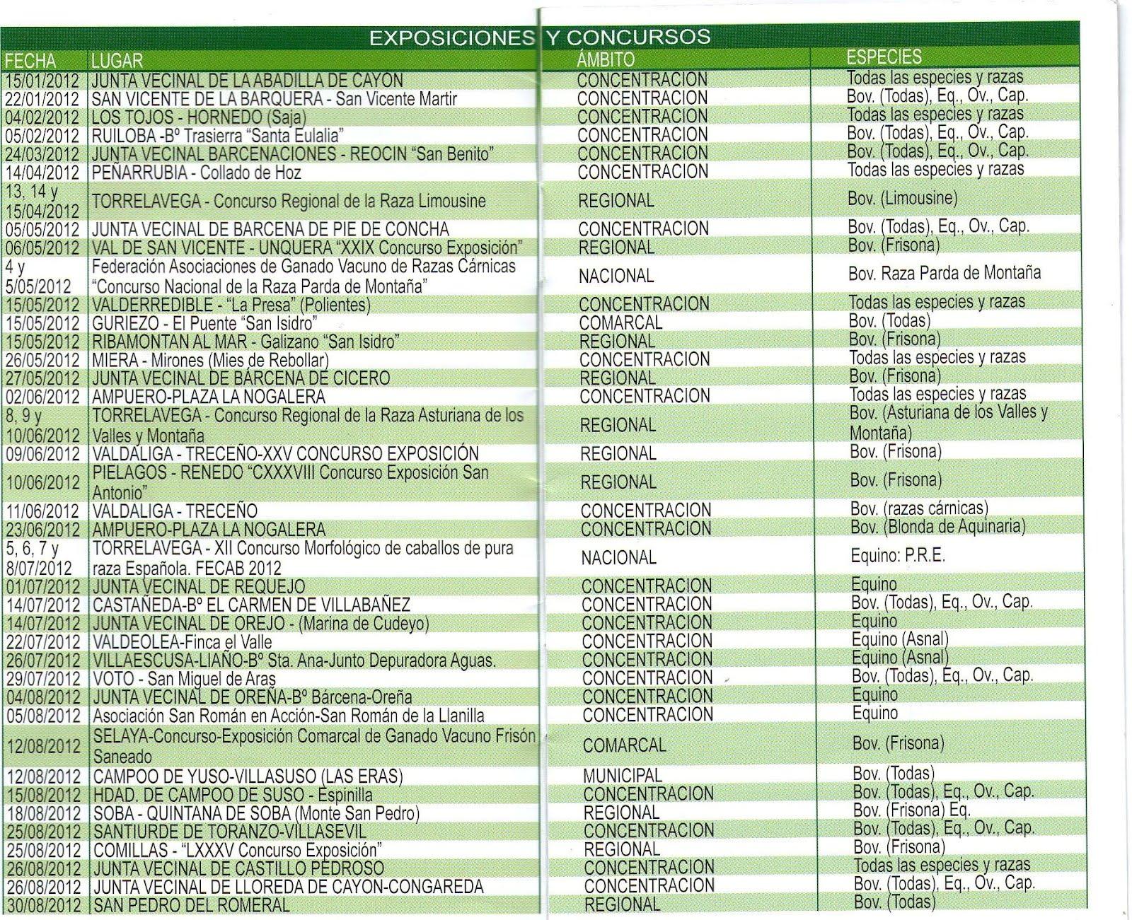 Respira via a via a inspira calendario 2012 de ferias de for Calendario ferias