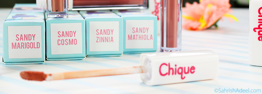 Matte Liquid Lipsticks - Sandy The Sweetest Collection by Chique Cosmetics - Review & Lip Swatches