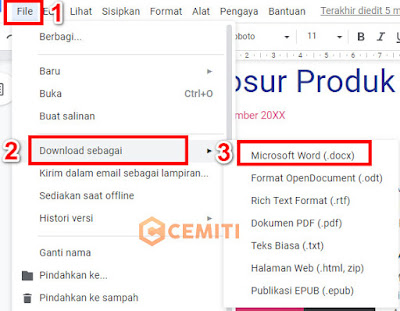 Google Docs Menjadi File Microsoft Words