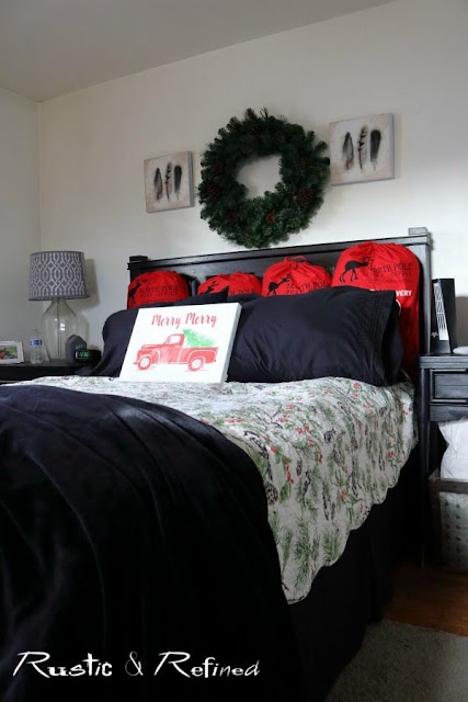 Decorating the Master Bedroom & Hallway for Christmas with a mix of modern and traditional elements.