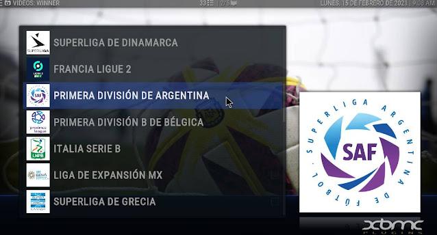 Liga Argentina Futbol addon KODI
