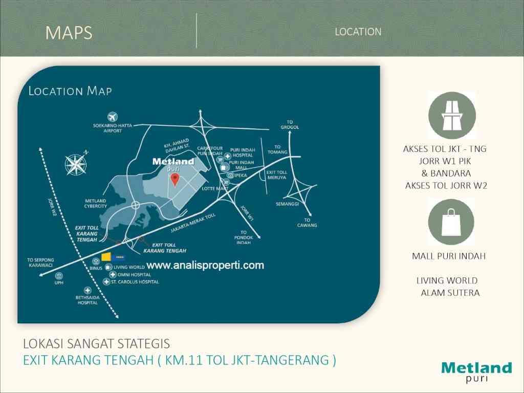 Peta Lokasi Amethyst Metland Puri Jakarta