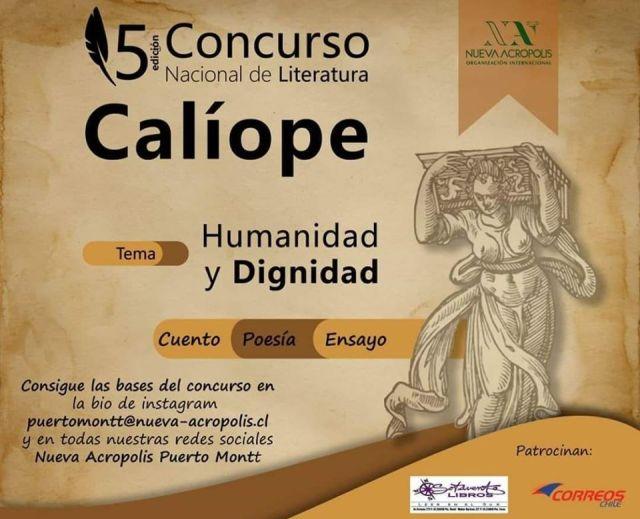 Invitan a participar en Concurso Nacional de Literatura CALÍOPE