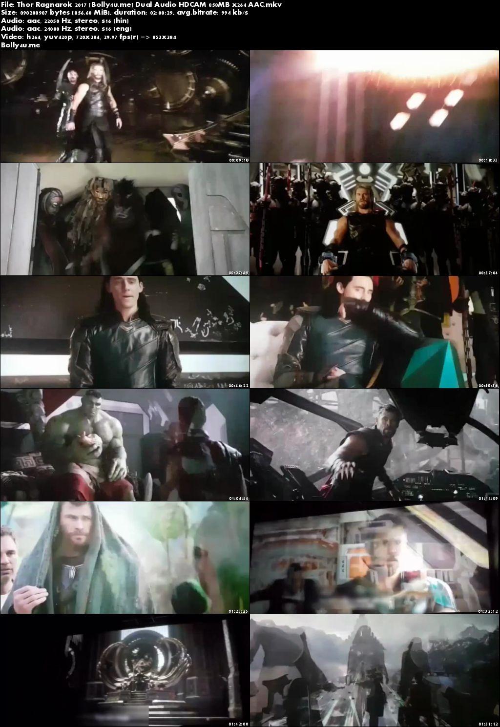 Thor Ragnarok 2017 HDCAM 850Mb Hindi Dubbed Dual Audio x264 Download